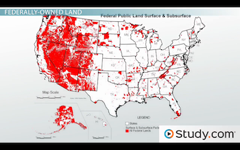 Land Ownership & Use in the US: Private vs. Federal - Video & Lesson ...