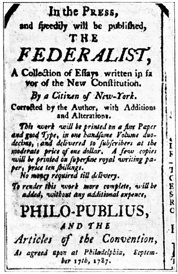 Ad for Federalist