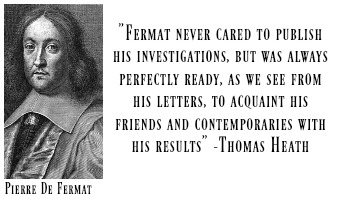 the life and scholarly career of peierre de fermat Academic journals business the mathematical career of pierre de fermat to give as full account as possible of the life and mathematical career of pierre de.