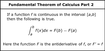 Using the Fundamental Theorem of Calculus to Show