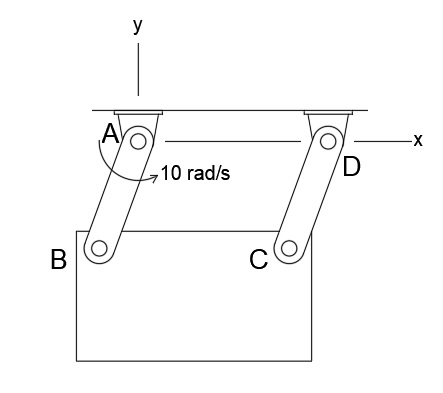 The Rectangular Plate Is Swinging In The Xy Plane The Two