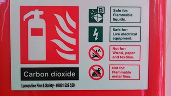 Fire extinguisher sign - there are many types