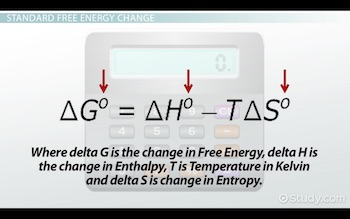 free energy change equation at standard conditions