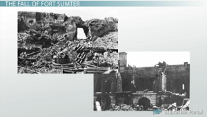 Fort Sumter Destruction
