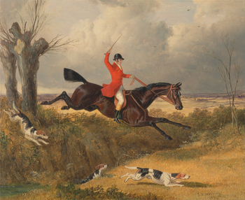 A Painting of a Fox Hunt