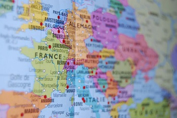 Map Of France And Europe.European Countries In French Study Com