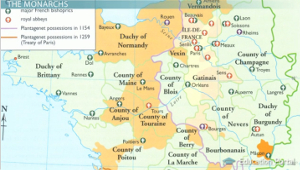 French Feudal Regions Map