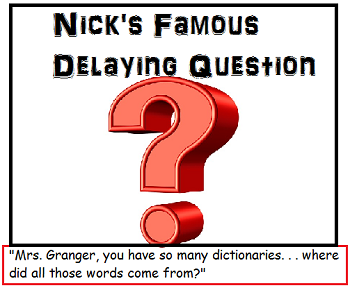 Frindle chapter 3 summary study nick asks mrs granger a question to try to delay the homework assignment fandeluxe Image collections