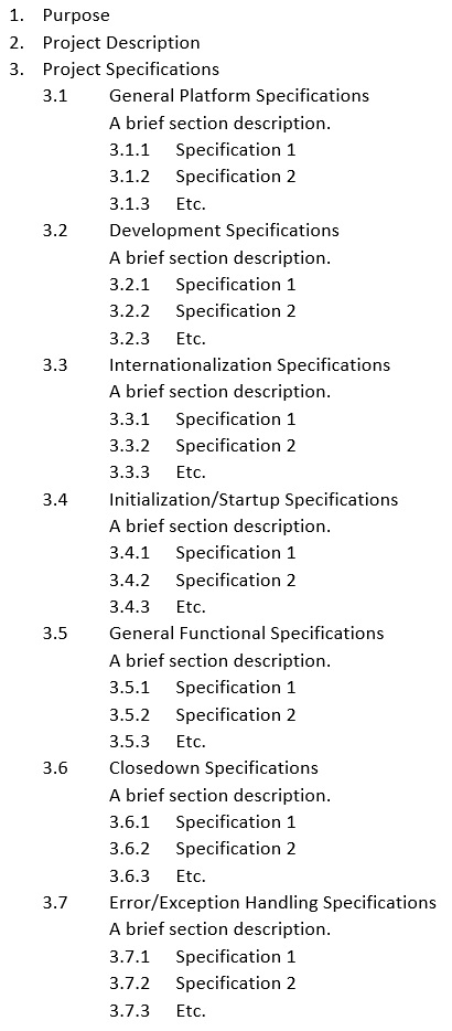 Functional Specification Definition Examples Study Com