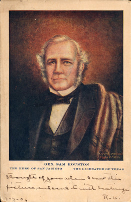 Sam Houston, the first president of Texas