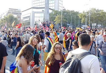 Demonstration in Catalonia