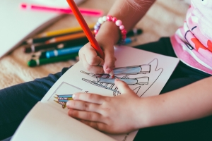 Something as simple as coloring can be a beneficial creative outlet for your ADHD child.