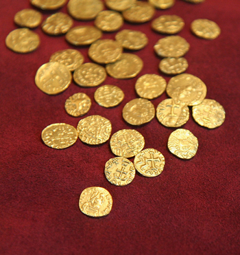 gold coins from Sutton Hoo