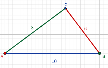 若ab 10 bc 8 ac 6_In triangle ABC, AB = 10, AC = 8, and BC = 6. Let P be the point on the circumcircle ...