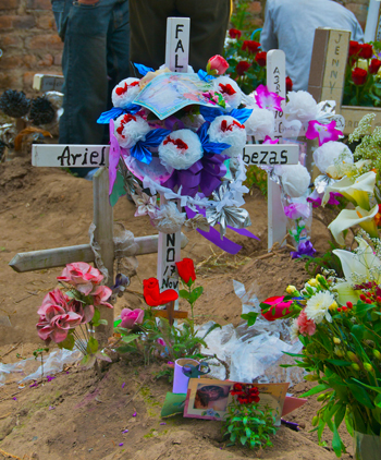 Grave decorated for Day of the Dead