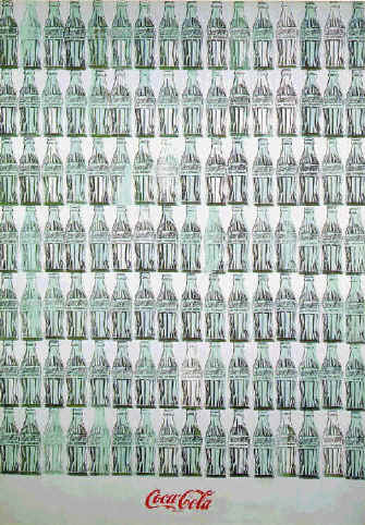Green Coca-Cola Bottles by Andy Warhol (1962)