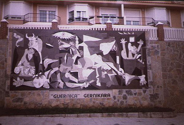 Guernica Mural in Guernica today