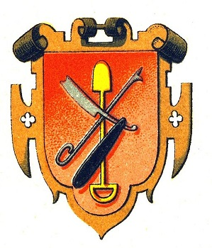 Guild coat of arms that shows a profession