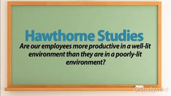 main findings of hawthorne studies