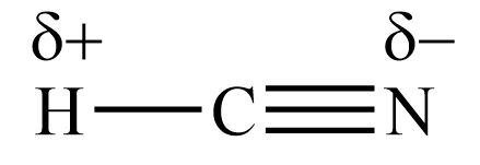 Is the hydrogen cyanide (HCN) molecule polar or nonpolar ...