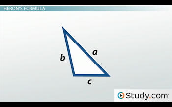 triangle with sides labeled a, b and c