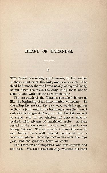 Heart Of Darkness Introduction  Studycom Heart Of Darkness Original