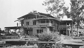 The Gamble House Under Construction