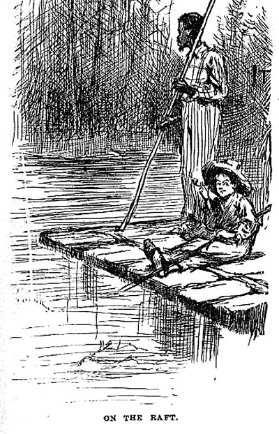 The raft in the adventures of huckleberry finn study adding to the adventure fandeluxe Choice Image