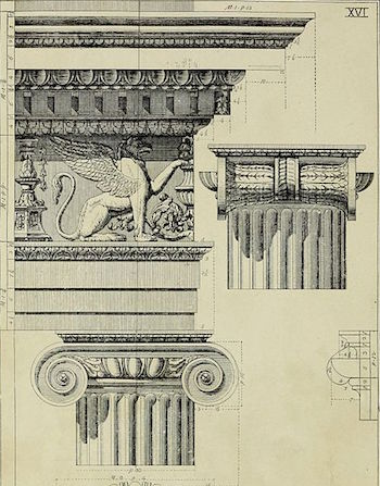 Illustration Of An Ionic Entablature