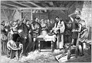 Image of the Baptism of Virginia Dare