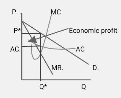Describe the short run and long run equilibrium in a