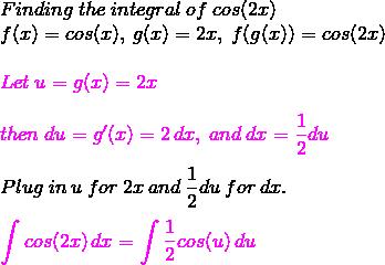 Solving the Integral of cos(2x) - Video & Lesson Transcript   Study com