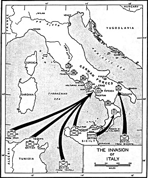The italian campaign in world war ii study map gumiabroncs Choice Image