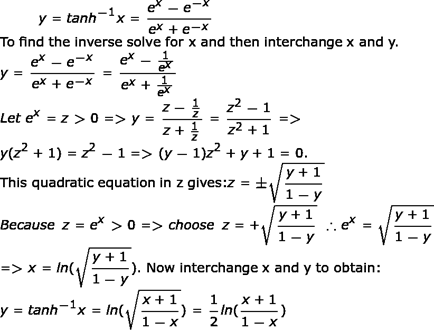 Inverse Hyperbolic Functions Properties Applications Study