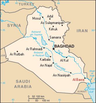 map iraq ethnic groups