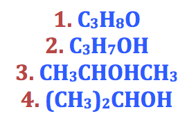 alcohol chemical formula