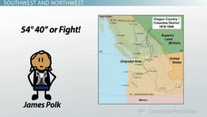 President James K Polks Accomplishments In The Lower States - Polk us map
