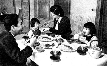 Japanese beliefs in farewell to manzanar study a japanese family meal fandeluxe Image collections