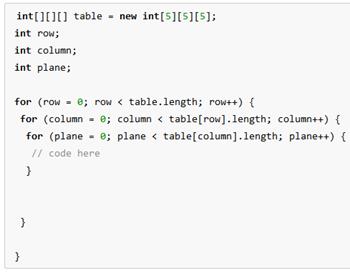 how to create a multidimensional array java