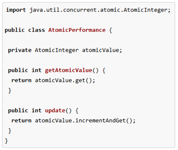 Java atomic variables in use