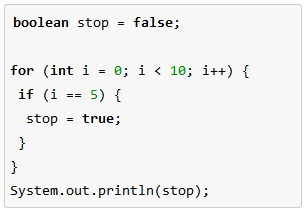 how to create boolean get method in java