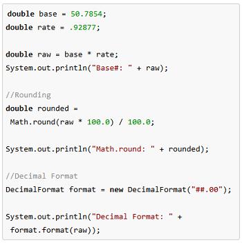 Java Rounding And Decimal Format