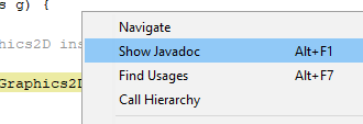 Javadocs for Graphics2D