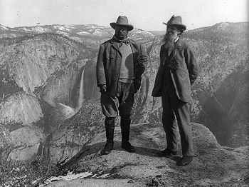 Picture of John Muir and President Roosevelt at Yosemite