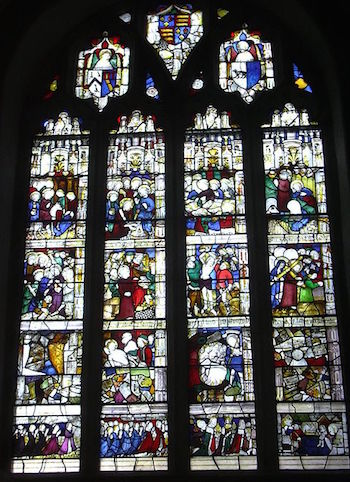 Row Of Stained Glass Windows From England