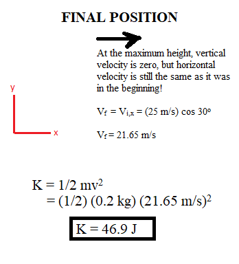 Conservation of Energy in Projectile Motion: Examples