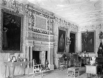 View of a Jacobean interior, in the Knole House