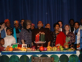 Ceremony with Kwanzaa founder
