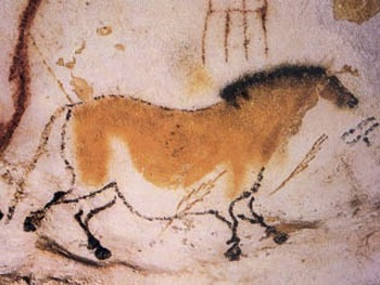 Paleolithic rock painting