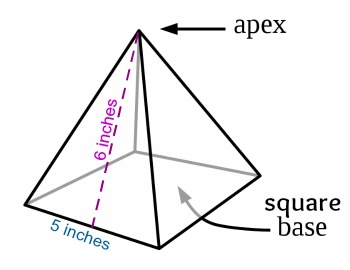 How to find the lateral area of a square pyramid study example fandeluxe Image collections